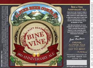 B&V 3rd Anniversary ale